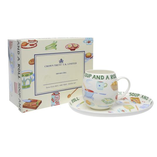 Soup & Roll Mug and Plate Gift Set