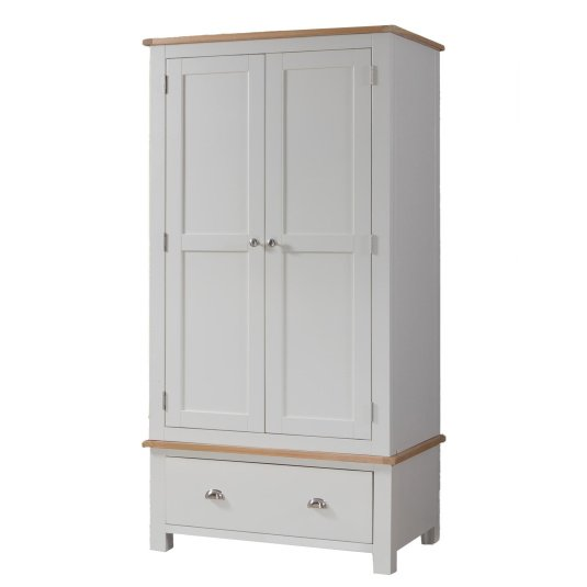 Malvern Grey and Oak Double Wardrobe