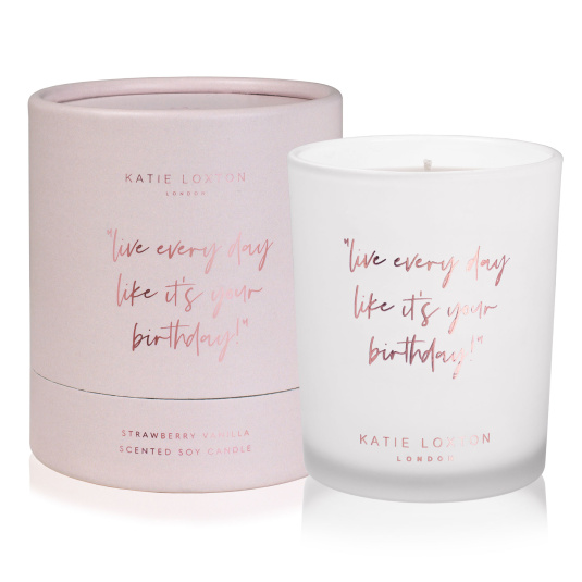 Katie Loxton Live Every Day Strawberry Vanilla Candle