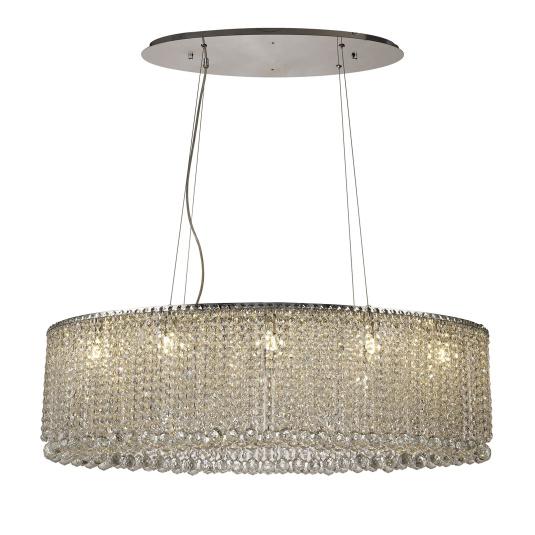 Diyas Empire Crystal 10 Light Pendant Light