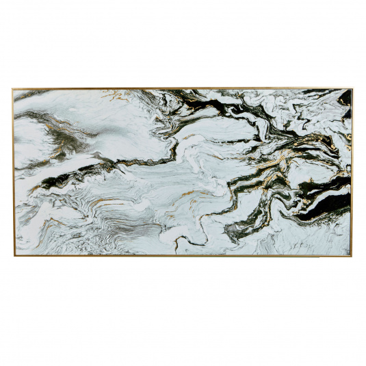 Large White Marble Print Picture
