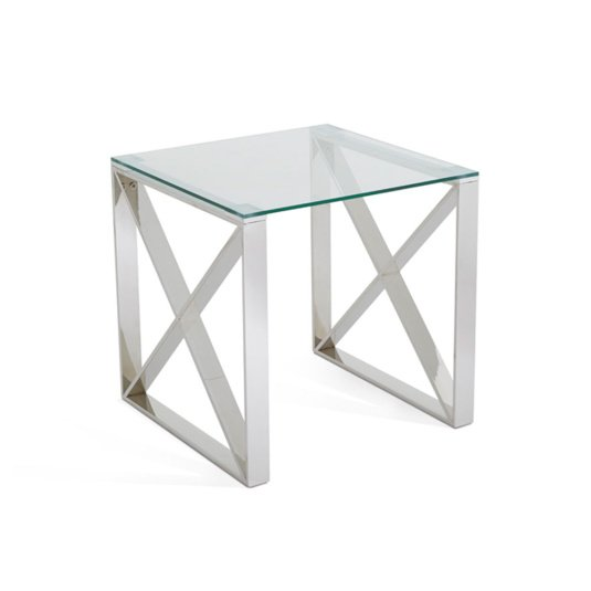 Astra Clear Glass Side Table
