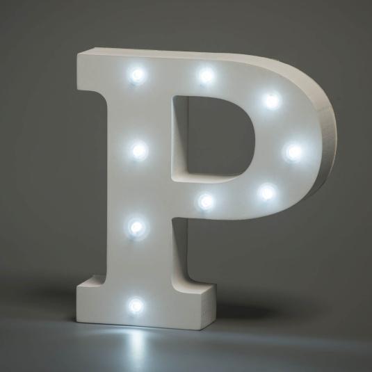 Light Up Letter - P