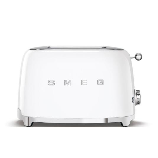 Smeg 50's Retro Style White 2 Slice Toaster