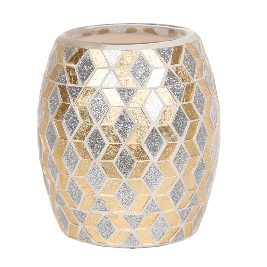Electric Wax Melt Burner Gold and Silver Glitter