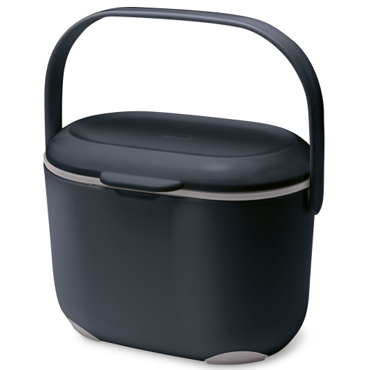 Addis Soft Touch 2.5 Litre Black and Grey Compost Caddy