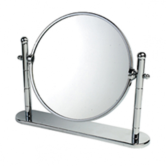 Omega Chrome and Brass Vanity Mirror