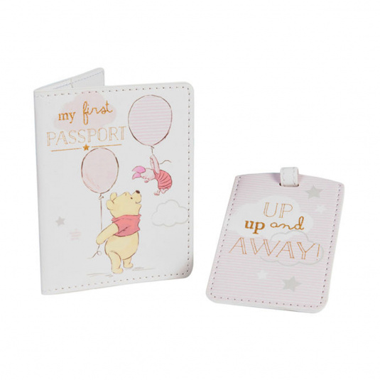 Disney Winnie the Pooh Girl Passport and Luggage Tag