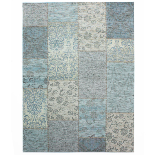 Manhattan Patchwork Duck Egg 120cm x 170cm Rug