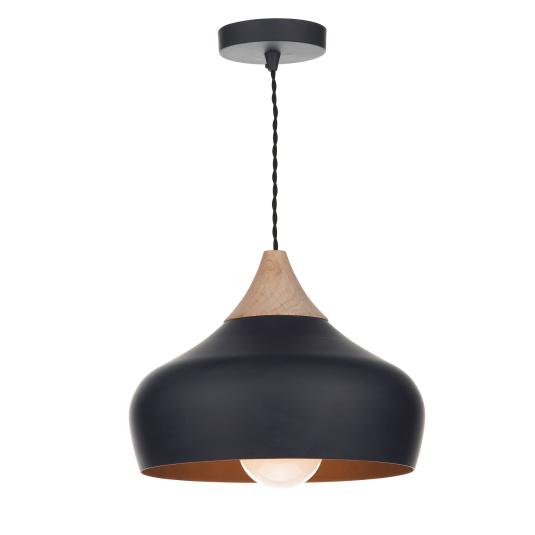 Gaucho Black Wood Pendant Light