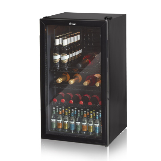 Swan 80 Litre Glass Fronted Under Counter Fridge