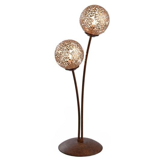 Greta Rust Twin Table Lamp