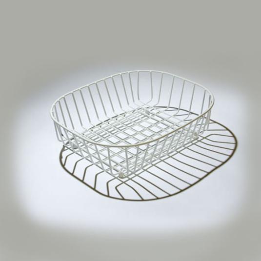 Oblong Sink Basket White