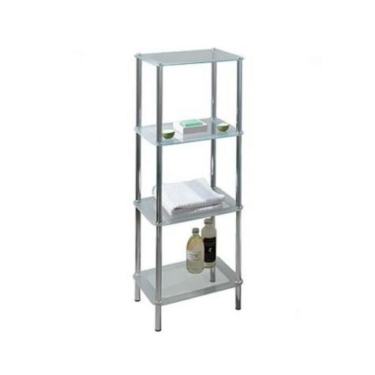 4 Tier Rectangular Bathroom Storage Unit