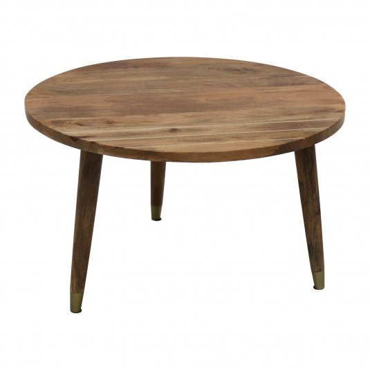 Drift Mango Wood Round Coffee Table - Front