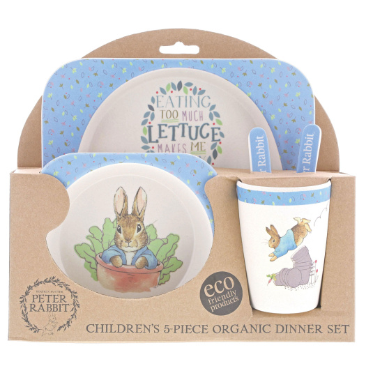 Bamboo Eco Peter Rabbit Baby Set Bowl, Cup & Plate Set