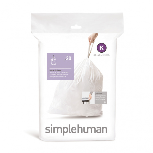 Simplehuman 38 Litre Sure Fit K Bin Liners - Size K
