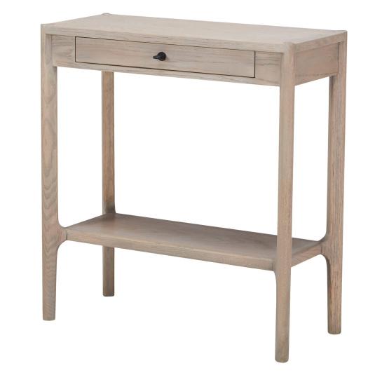 Alicante Grey Oak Hall Table - Angled | Housing Units