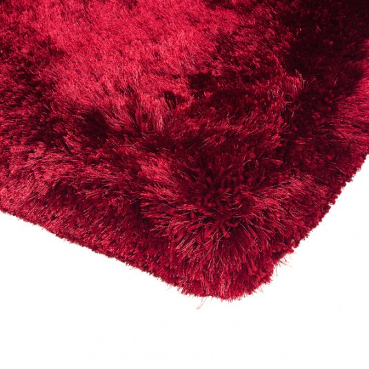 Plush Shaggy Red 120cm x 170cm Rug