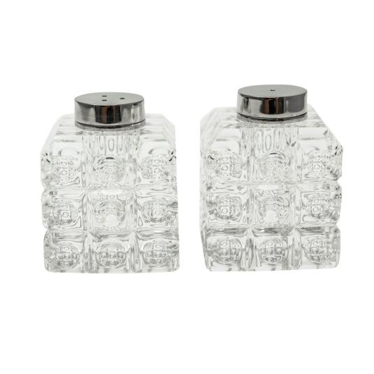 Rubic Crystal Salt and Pepper Shaker