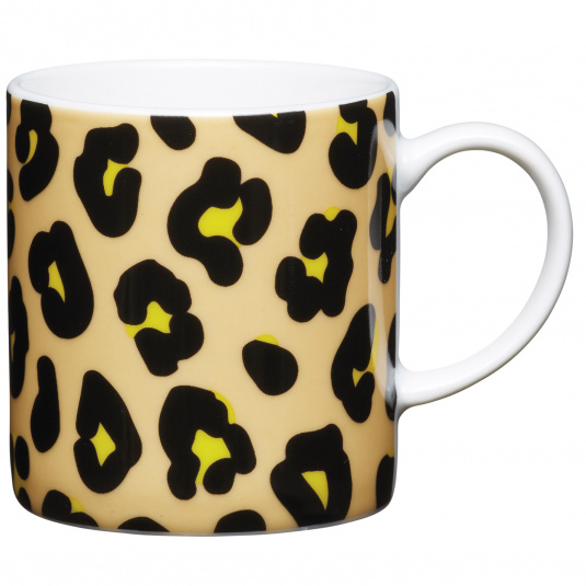 Leopard Print Porcelain Espresso Cup