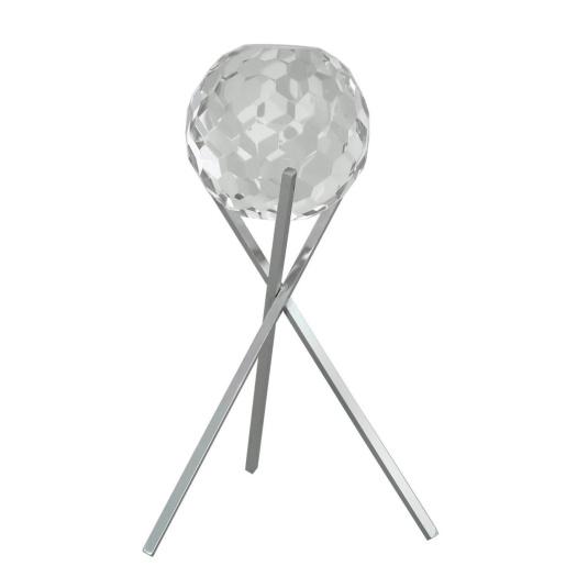 Medium Cut Glass Sphere On Stand