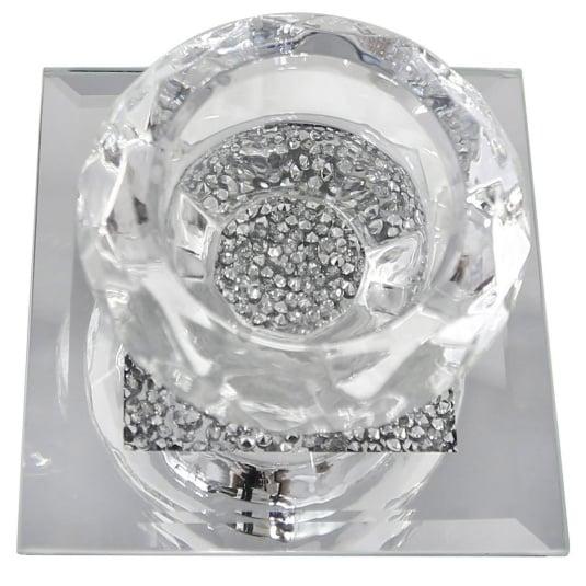 Milano Crystal One Light Tealight Holder