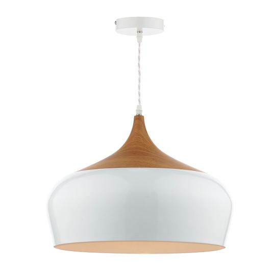 Gaucho White Wood Pendant Light