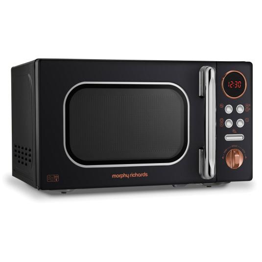 Morphy Richards Evoke Rose Gold & Black 20 Litre Microwave