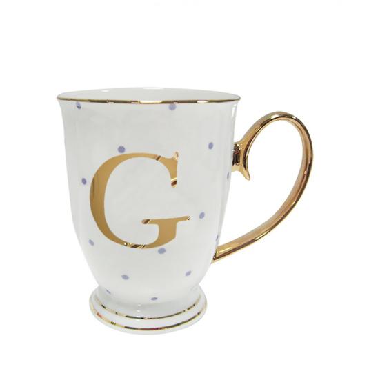 Alphabet Spotty Mug - G