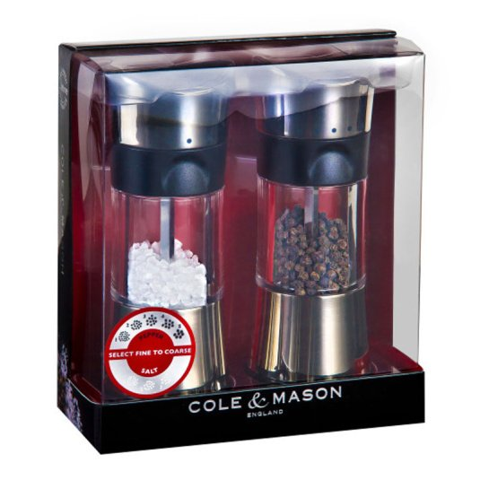 Cole and Mason Horsham Polished Chrome Salt & Pepper Mill