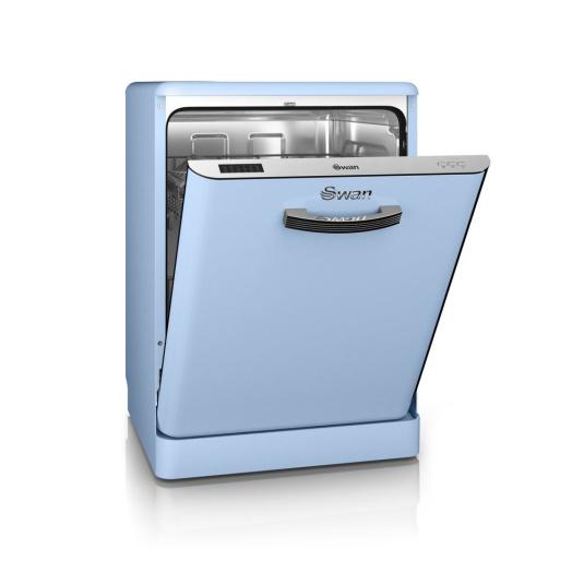 Swan Retro Blue Dishwasher