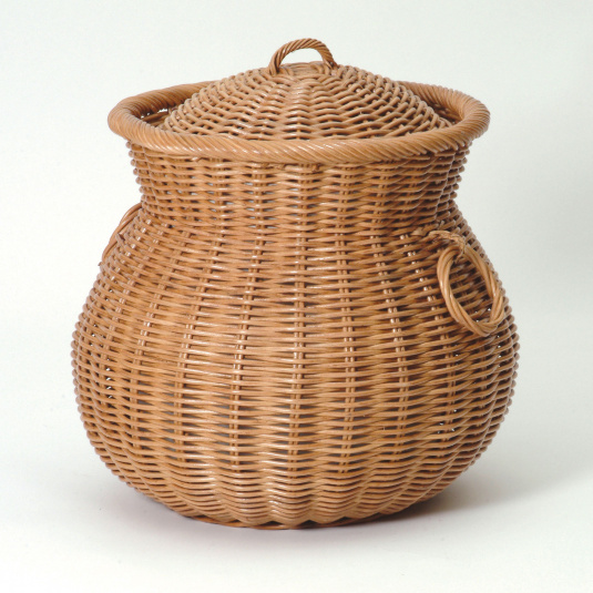 Ali Baba Candy Brown Wicker Linen Basket