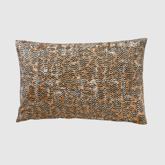 Zola Black and Gold Boudoir Cushion Gold Side