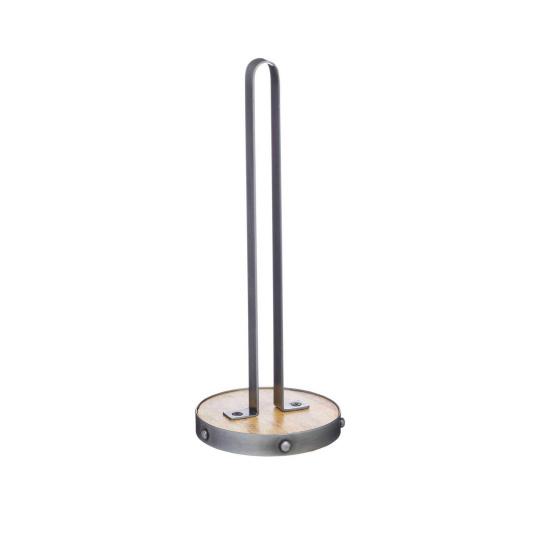 Industrial Kitchen Metal & Wood Kitchen Roll Holder
