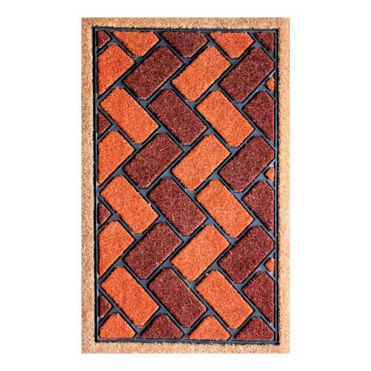 Red Brick Effect Coir Mat