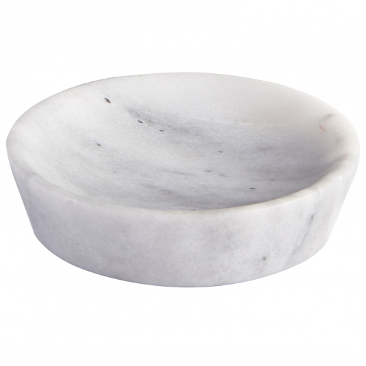 Showerdrape Athena White Marble Soap Dish