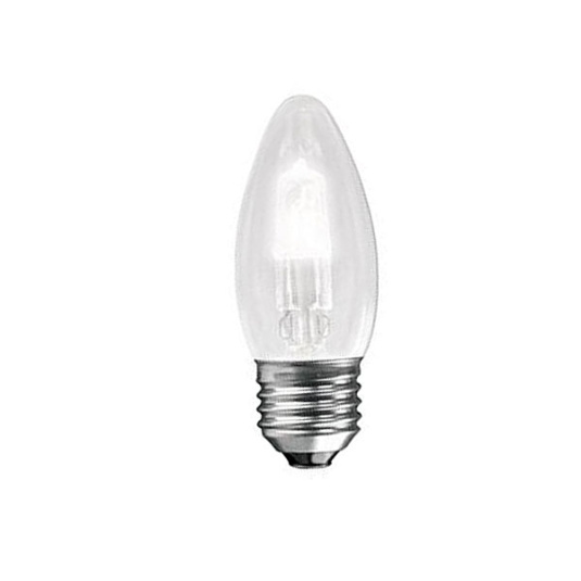Crompton Lamps Halogen Clear Candle ES E27 42W Light Bulb