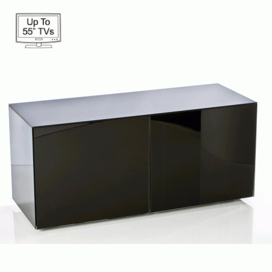 "Invictus Black High Gloss TV Stand for up to 55"" TVs"