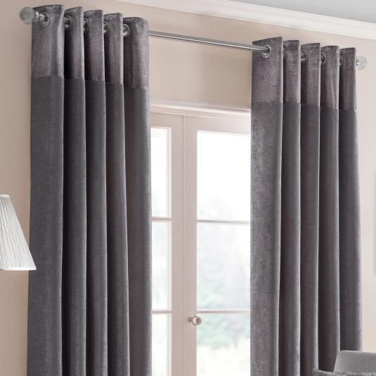 Belfield Nova Pewter 90x54 Curtains