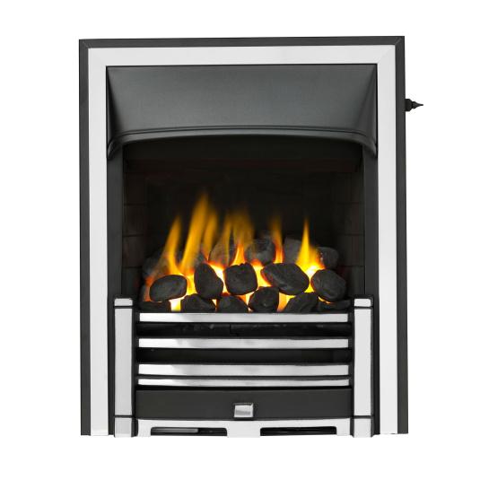 Valor Trueflame Homeflame Gas Fire with Half Clifton Chrome Trim
