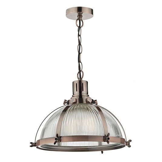 Debut Brushed Antique Copper Single Light Pendant Light