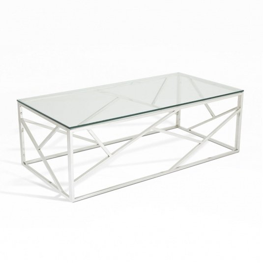 Vienna Clear Glass Coffee Table