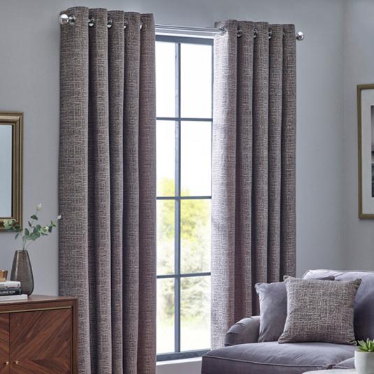 Belfield Orion Zinc 66x90 Curtains