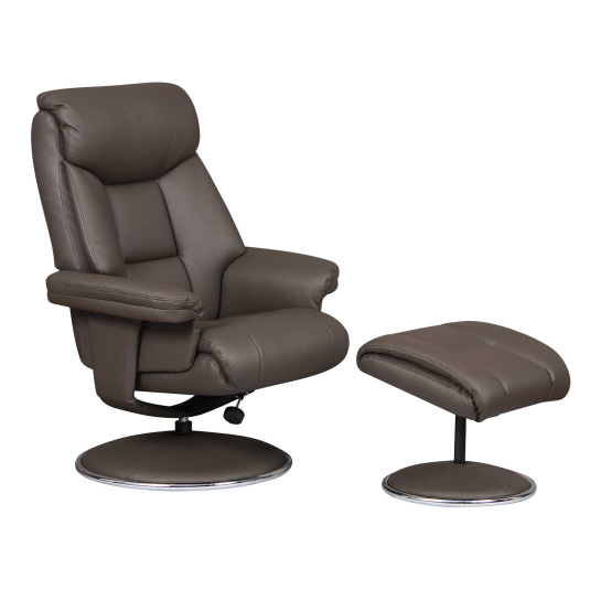Irving Charcoal Recliner Chair and Footstool