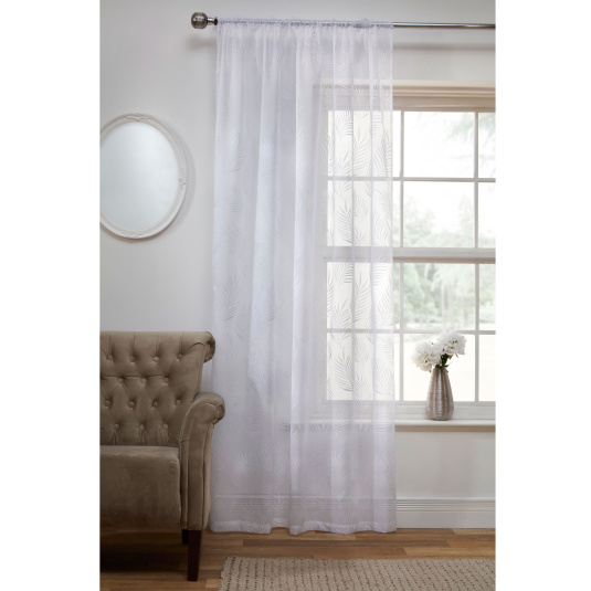 Fern White Voile Panels Collection