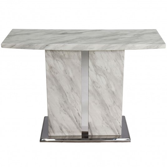 Montero White Marble Console Table