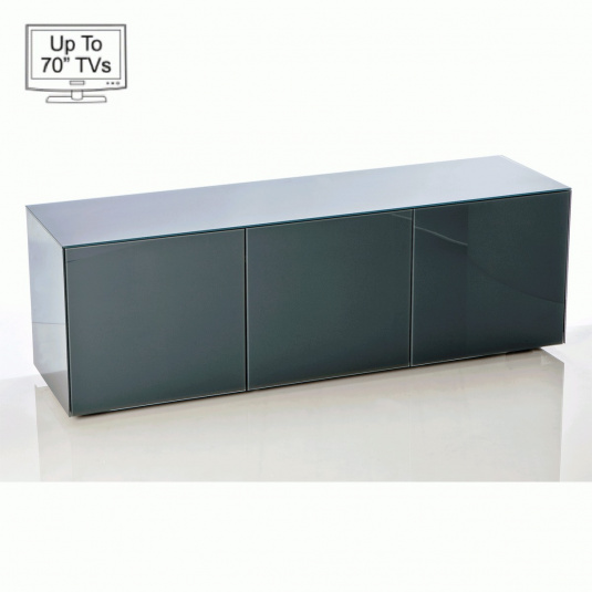 """Invictus Grey High Gloss TV Stand for up to 70"""" TVs"""