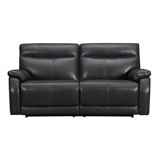 Lativo Anthracite Leather 3 Seater Electric Sofa