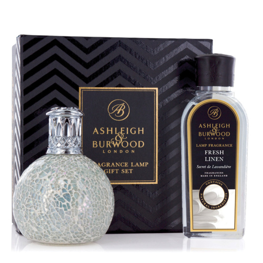 Ashleigh & Burwood Fragrance Lamp Set - Pearl with Fresh Linen